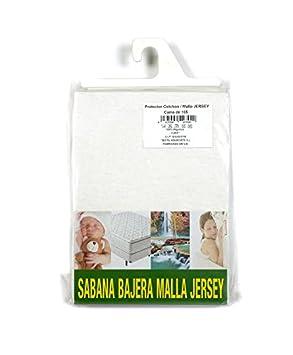 I LIKE® Protector COLCHON 100% ALGODÓN Malla Jersey Cama 105 (105 x 190)