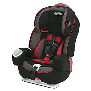 Graco Nautilus 80 Elite 3-in-1 Harness Booster Car Seat, Chili Red