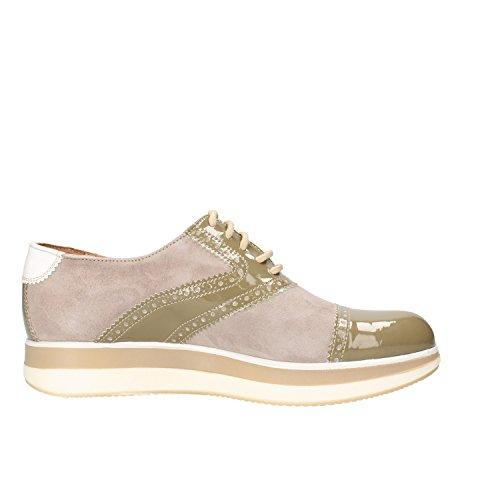 JACKAL chaussures élégantes Femme beige daim vert cuir verni AG860