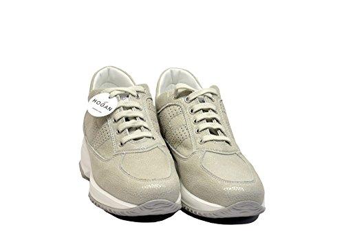 Hogan - Zapatillas de gimnasia para mujer Beige beige 34,5 Beige