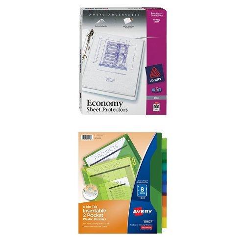 Avery Economy Clear Sheet Protectors, Acid Free (75091) a...