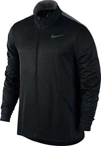 NIKE Men's Jacket Epic Knit (Large, Black/Dark Grey)