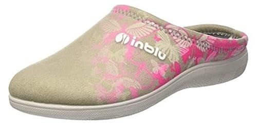 Inblu - Zapatillas de Estar por casa de Tela para Mujer Beige TóRTOLA 35: Amazon.es: Zapatos y complementos