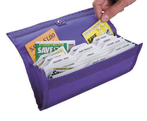 HannahDirect Deluxe Coupon Organizer, Purple