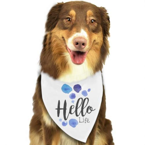 Rongx Hello Life Beauty Adjustable Pet Dog Cat Puppies Triangle Collars Scarf Collar Neckerchief Necklace
