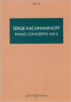ラフマニノフ: ピアノ協奏曲 第3番 ニ短調 Op.30/ブージー & ホークス社/中型スコア