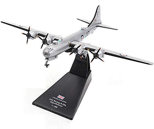 Jiaa Kits del Modelo del Metal del Bombardero Pesado de la Fortaleza del Aire de Boeing B-29 para Los Adultos,1:200 Escala