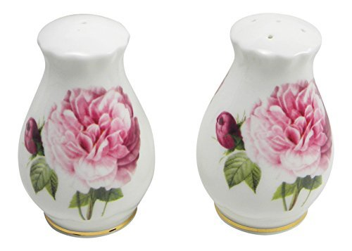 Roy Kirkham Versailles Roses Salt and Pepper Shaker Set Fine Bone China England