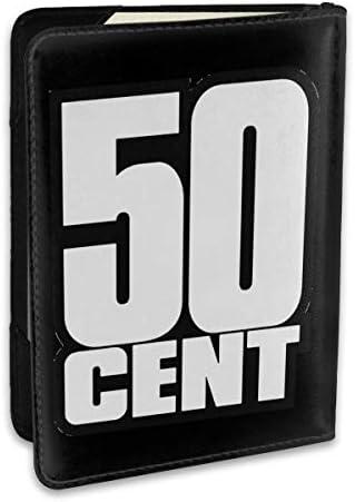 50cent 50 Cent Rapper Rap Logo パスポートケース メンズ 男女兼用 パスポートカバー パスポート用カバー パスポートバッグ ポーチ 6.5インチ高級PUレザー 三つのカードケース 家族 国内海外旅行用品 多機能