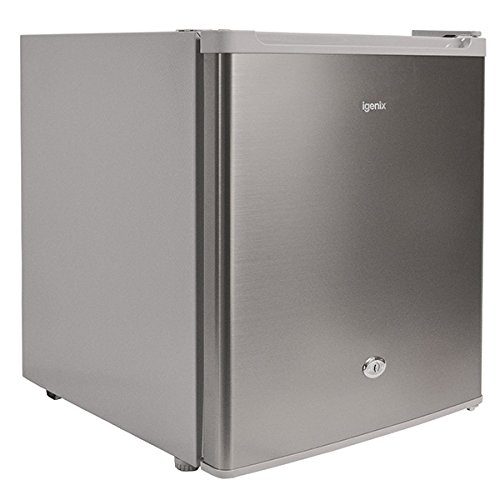 Igenix IG6751 Table Top Mini Freezer with 35 Litre Capacity, Ideal for Additional Freezer Space with 1 Shelf, Reversible and Lockable Door, Stainless Steel