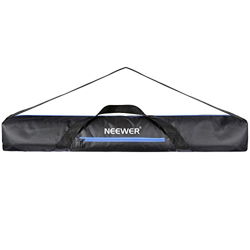 Neewer Heavy Duty Photographic Tripod Carrying Case Bag with Strap for Light Stand, Boom Stand, Tripods, Monopod, 36x4.7x4.7 inches/92x12x12 centimeters (Black+Blue) by Neewer