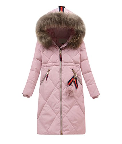 Quilted Hooded Long Down Jacket - 6