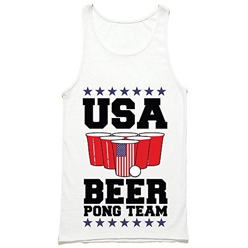 USA Beer Pong Team Tank Top - American Drinking Shirt - Patriotic Party Tank ...