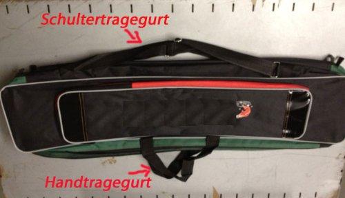 KANANA Angeltasche Rutentasche Angelkoffer 90cm Tasche