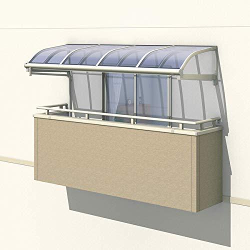 三協アルミ レボリューZ 2.0間×3尺 1500タイプ/関東間/123階用R型/柱なし式/単体 *雨トイは3m×2本を手配します 『テラス屋根』 ポリカーボネート サンシルバー B073S5NBY9 本体カラー:サンシルバー