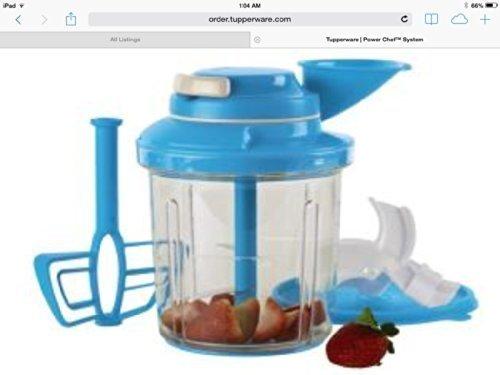 Tupperware Power Chef System in Salt Water Taffy/Blue ()