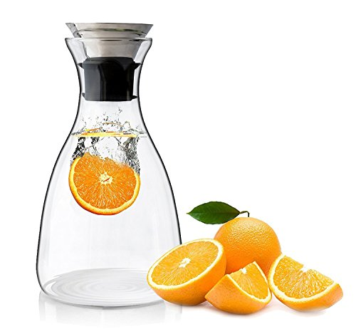 simple glass carafe - 6