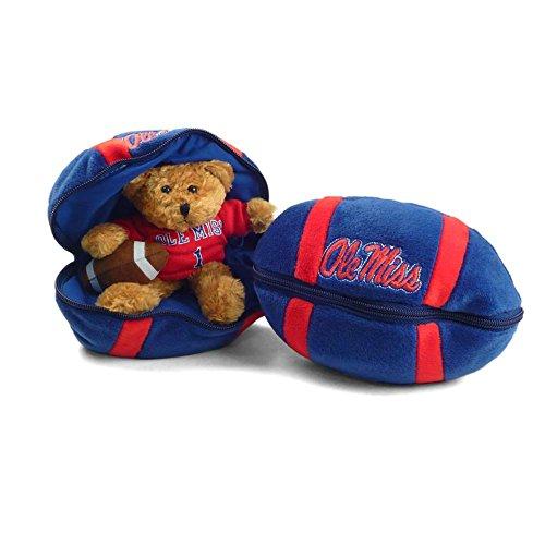 Plushland Mississippi Ole Miss Rebels Stuffed Bear in a Ball - - Ole Bear