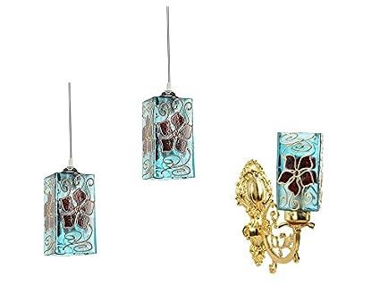 Gojeeva Decorative Wall Lamp & Hanging Lamp Combo Pendant Fixtures at amazon