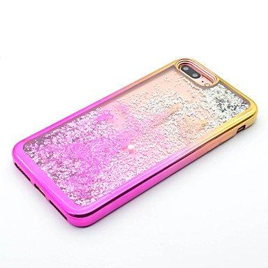 Fundas y estuches para teléfonos móviles, Para el iphone 7 más 7 tpu que platea el laser que talla la caja del teléfono de la arena movediza 6s más 6 más 6s 6 se 5s 5 ( Modelos Compatibles : IPhone 7  IPhone SE/5s/5
