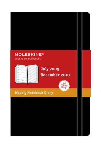 Moleskine Academic Weekly Notebook 2010 18 Month Hard Black Large (Moleskine Diaries) 2010 Moleskine Weekly