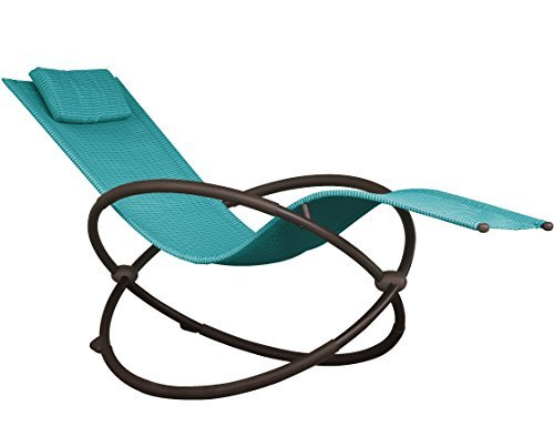 Vivere ORBL1-TT Orbital Lounger Outdoor Rocking Chair, True Turquoise