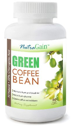 Nutragain Green Coffee Bean Extract With Gca 800mg 60 Vegetarian