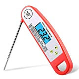 EDEALER Waterproof Digital Meat Thermometer-Kitchen Food Cooking Thermometer with Backlight LCD - Super Fast Electric Meat Thermometer Probe for BBQ Grilling Smoker Candy Baking Turkey