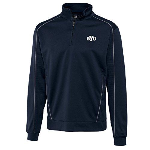 - Cutter & Buck NCAA BYU Cougars Men's CB Dry Tec Edge Half Zip Apparel, Large, Navy Blue