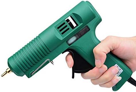 Minmin 20/40グルースティック、100Wグルーガン高速ゾル、温度調節可能なホットメルトグルーガン - クラフトスクールのメンテナンスに使用DIY(グリーン) ミニ (Color : 20 glue sticks)