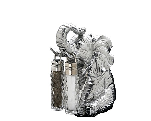 Arthur Court Designs Aluminum Elephant Stand for Glass Hanging Salt and Pepper by Arthur Court