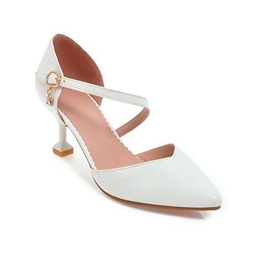 36 Blanc EU Sandales Blanc Femme 5 AdeeSu Compensées TXnZR44