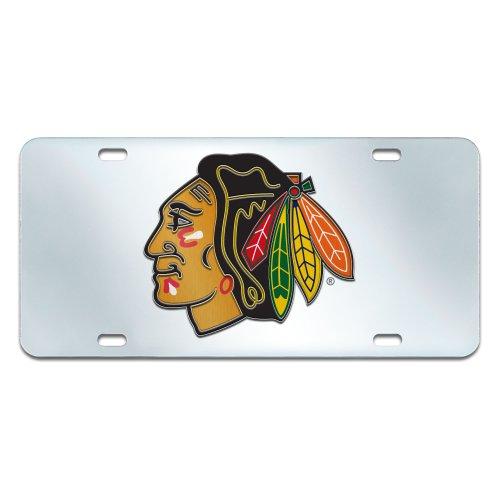 FANMATS NHL Chicago Blackhawks Plastic License Plate ()