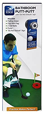 Journey's Edge Bathroom Putt-Putt Mini Golf Putting Game with Mat