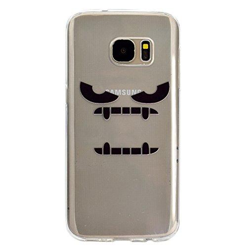 mokyo Samsung Galaxy S7Edge Funda, antigolpes Niedlich patrón suave transparente Gel TPU Funda de silicona con [libre Stylus Lápiz] antiarañazos, antiarañazos de ultra fina goma Rubber Funda transpar Monstruo