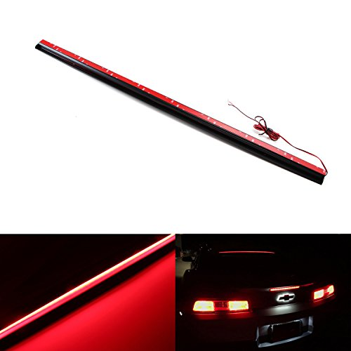iJDMTOY Universal 36-Inch Roofline LED Third Brake Light Kit Above Rear Windshield | Audi A7, BMW 6 Series, Tesla Style