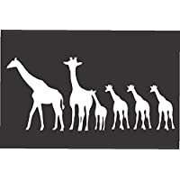 "Giraffe Family- Die Cut Vinyl Window Decal/sticker for Car or Truck 3.5""x8"""