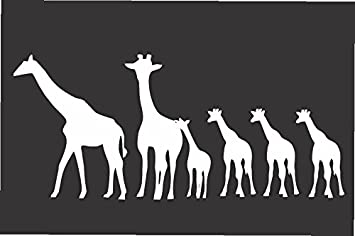 Amazoncom Giraffe Family Die Cut Vinyl Window Decalsticker For - Family decal stickers for cars