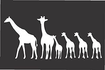 Amazoncom Giraffe Family Die Cut Vinyl Window Decalsticker For - Family window decals