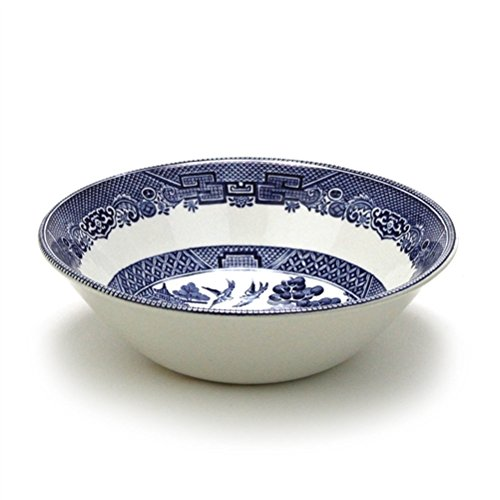 Blue Willow by Johnson Bros., Earthenware Soup/Cereal Bowl
