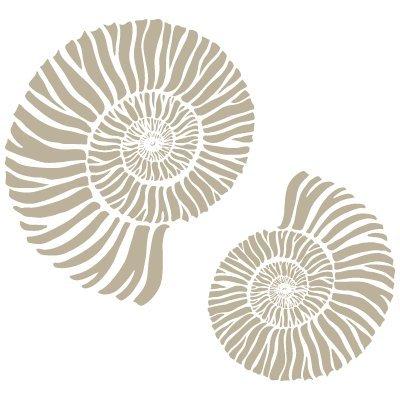 Stencil Mini Deco Sfondo 060 Conchiglias 12 x 12 cm Misure Design 9 x 9 cm Misure Dimensioni esterne dello stencil