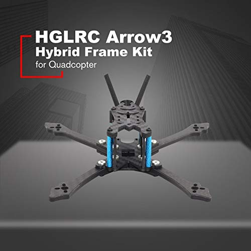 Wikiwand HGLRC Arrow 3 Hybrid FPV Racing Drone Durable Frame Kit for Mini Quadcopter by Wikiwand (Image #1)