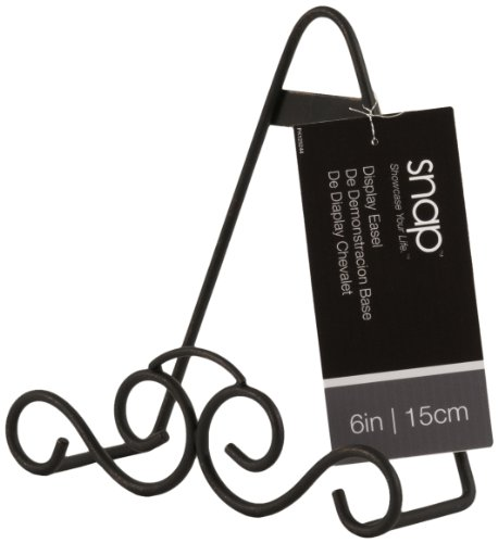 Gallery Solutions Knotted Wrought Iron Easel, (Wrought Iron Plate Stand)