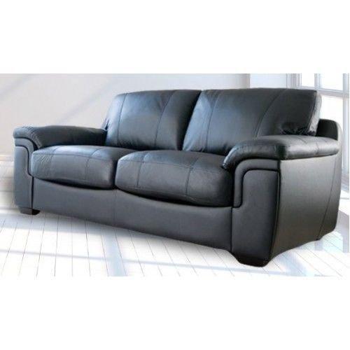 Neue Aus Hochwertigem Kunstleder, 3, 2 Stühle, Sofas, Sessel, Schwarz Modern 3 Seater