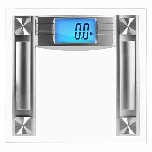 SlimSmart Digital Bathroom Scale - Extra Large Lighted Digital Display Scale - 400 Pounds/225 Kilogram Capacity - Track Diet and Weight - Activates Automatically with Smart Step-On Technology