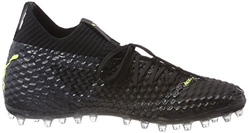 Puma Men Toekomstige 18,1 Mg Netfit Voetbalschoenen Zwart (black-puma Fizzy Geel-asfalt)