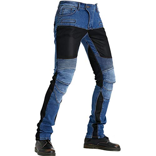 TZTED Herren Motorradhose Motorrad Hose mit Protektoren Motorradhose, Motorradhose mit Oberschenkeltaschen