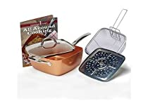 Copper Cook Square Pan 4pc. Set AS SEEN ON TV