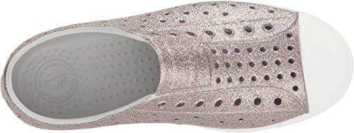 Native Jefferson Slip-On Sneaker Metall Bling / Schale Weiß