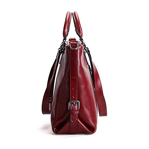 cuir 6178 portés épaule Girl Sac E main Sac Bordeaux femme fashion portés Sac en à LF main EqTxx78